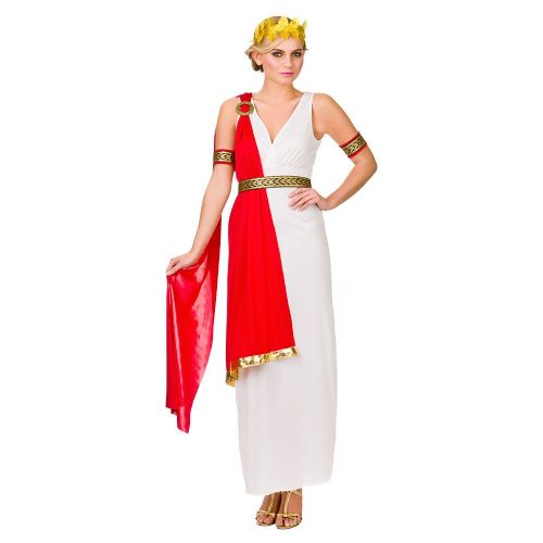 Ladies Glamorous Roman Lady Costume for Ancient Rome Greek Latin Fancy Dress